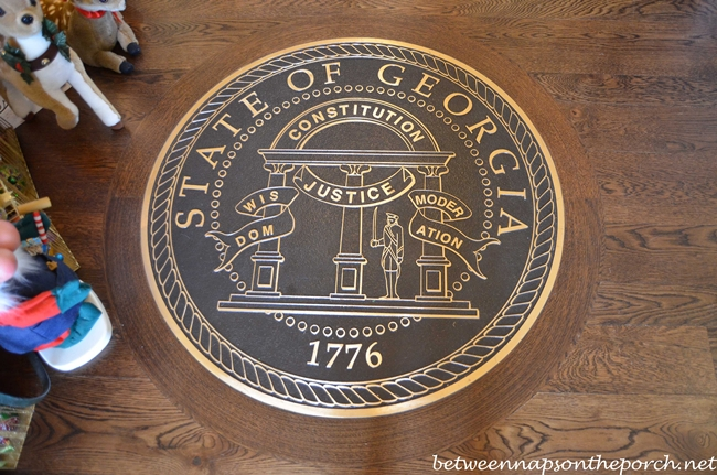 Great Seal of Georgia in Entry Floor