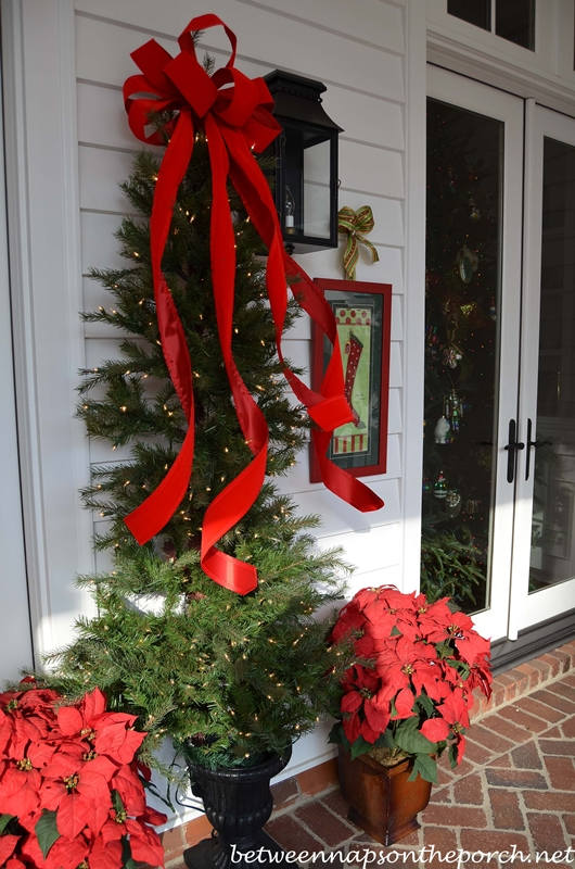Veranda Decorated for Christmas