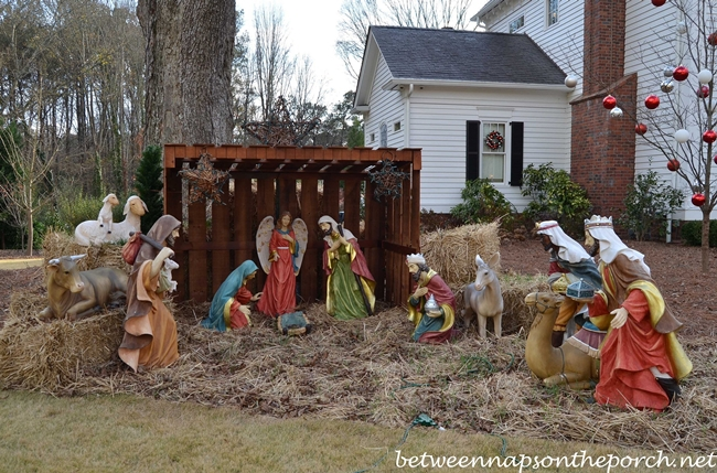 Outdoor Nativity Scene for the Lawn