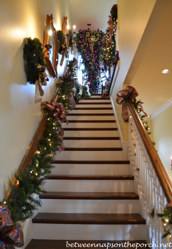 Attic Stairs & Upside Down Christmas Tree