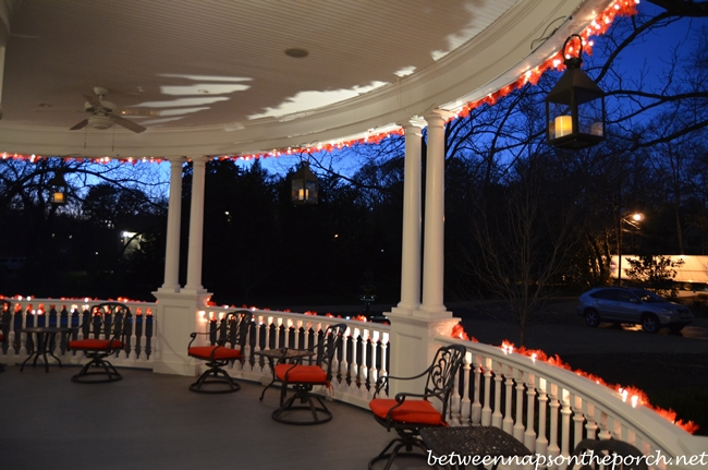 Blue Hour Photos of Victorian Home Decorated for Valentine's Day