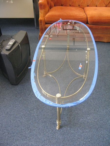 Brass and Glass Table