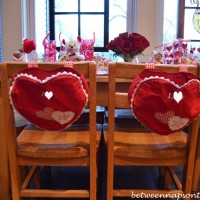 Children's Valentine's Day Table Setting