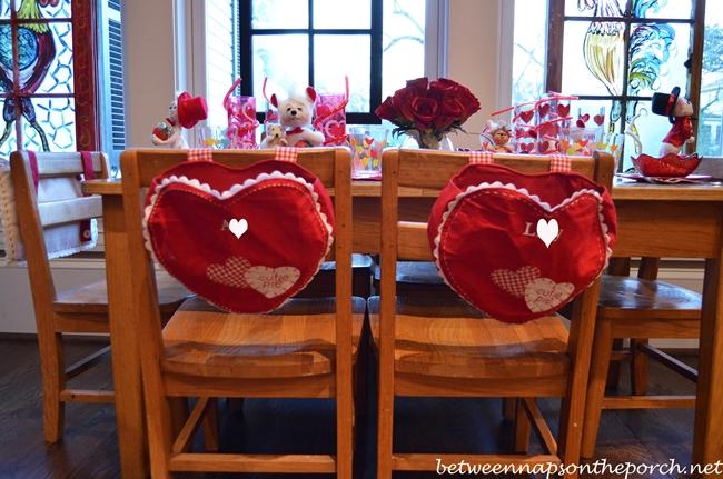 Children's Valentine's Day Table Setting Tablescape