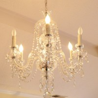 Crystal Chandelier in Master Bedroom