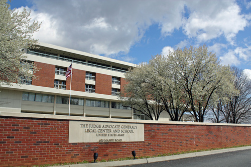 Judge Avocate General's School in Charlottesville, VA