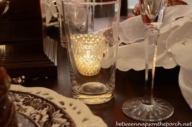Numbered Glasses in New Year's Eve Table Setting