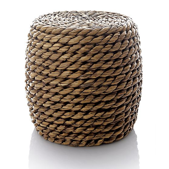 woven natural fiber ottoman or stool for the home office. Black Bedroom Furniture Sets. Home Design Ideas