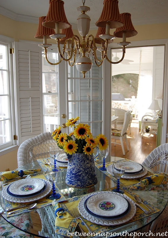Spring or Summer Tablescape Table Setting with Wedgwood