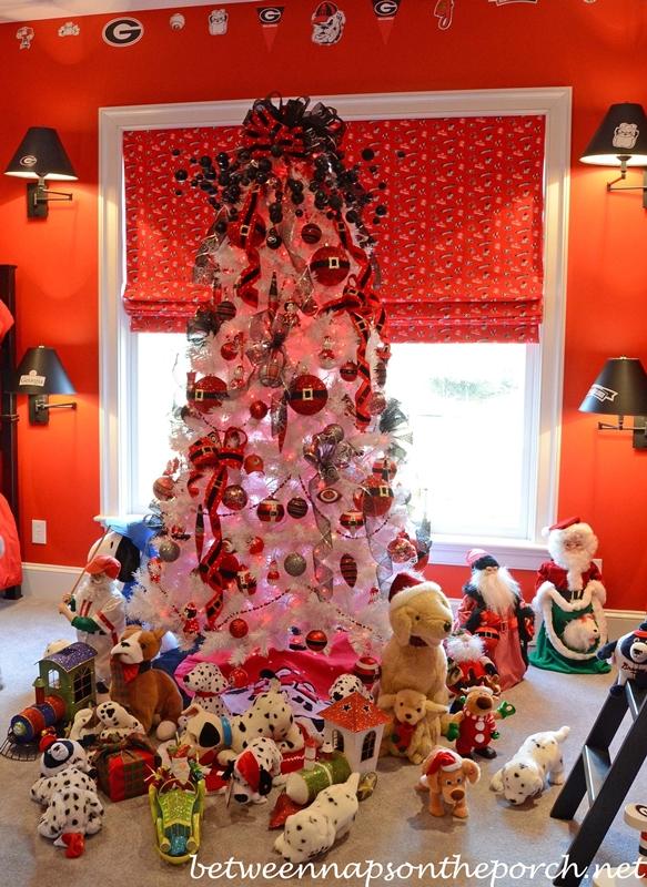 University of Georgia Themed Christmas Tree