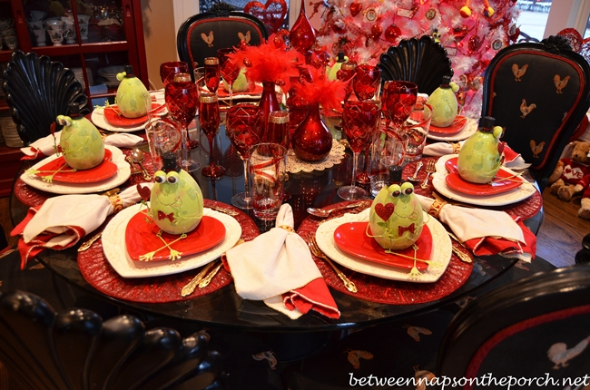 A Valentine S Day Table Setting Tablescape