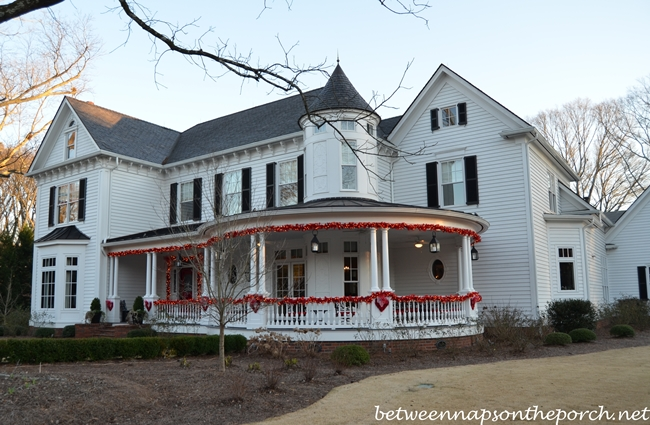 Victorian Home Decorated for Valentine's Day