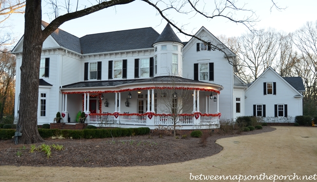 Victorian Home Decorated for Valentine's Day 1
