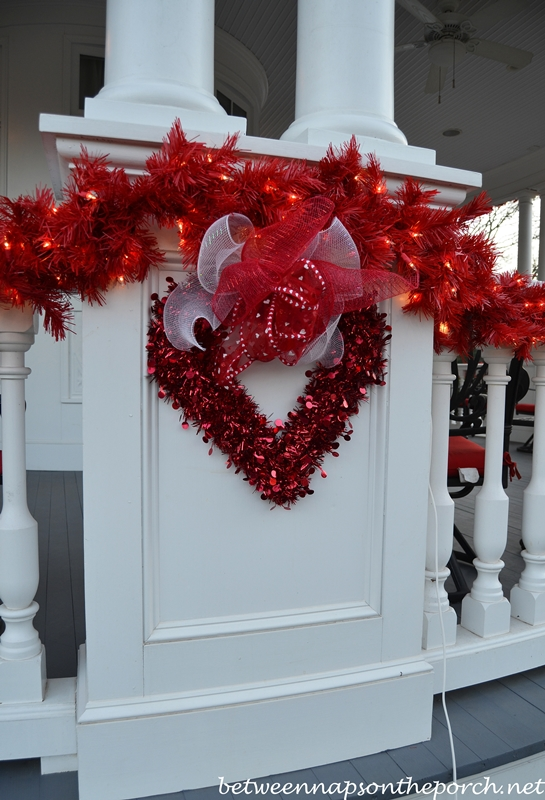 Porch Decorated For Valentine S Day Between Naps On The Porch