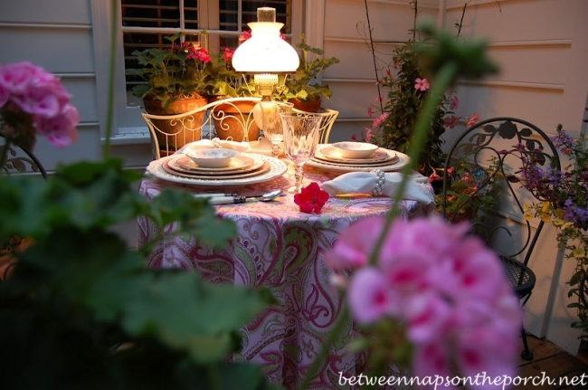 Dinner for Two by Lamplight