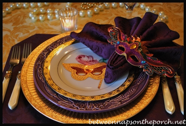 Mardi Gras Table Settings