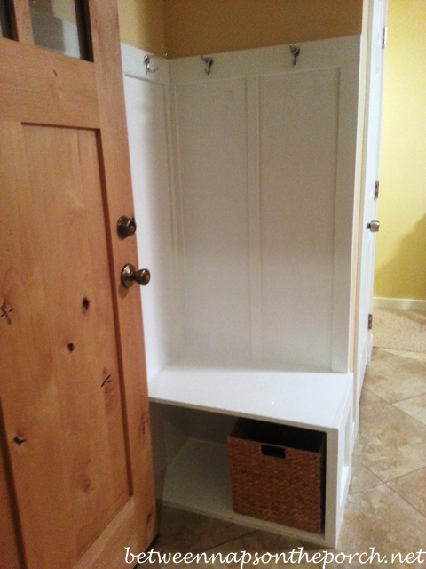 Difference Between Foyer And Mudroom : Small entryway makeover add board and batten wainscotting