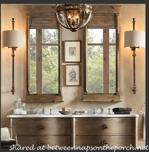 Restoration Hardware Inspired Bathroom Renovation