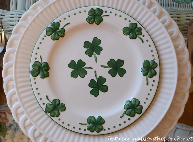 4-Leaf Clover Plates for St. Patrick's Day