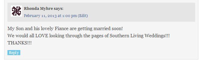 Southern Living Weddings