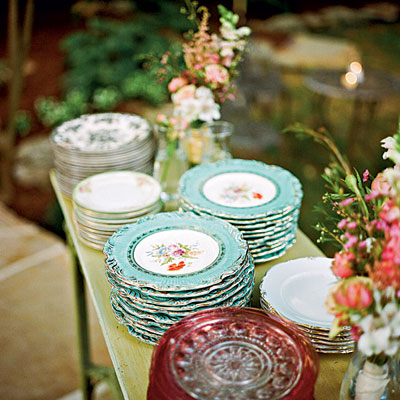 Vintage China for a Wedding Reception