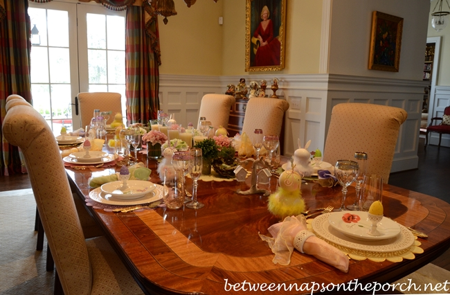 Easter Spring Table Setting 1