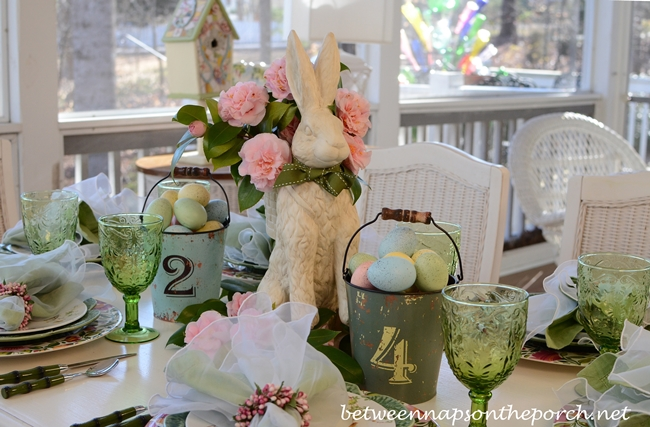Easter Spring Tablescape Table Setting
