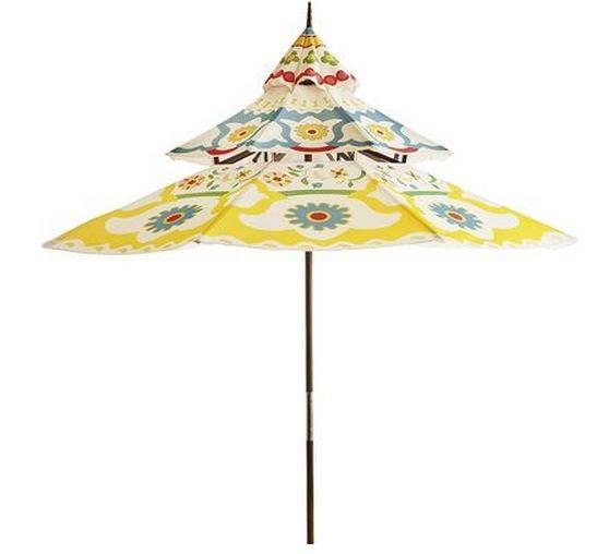 Floral Pagoda Umbrella