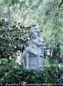 Garden Statue of Little Girl