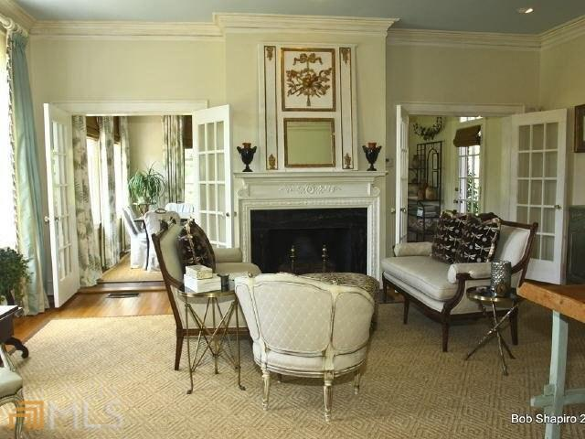 Living Room with French Trumeau Mirror