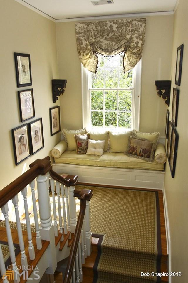Romantic Window Seat on Landing of Historic Home