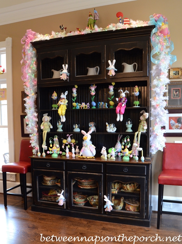 Kitchen Decorated for Easter – Between Naps on the Porch