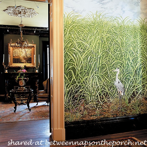 Mural in Entry of Houmas Plantation Home
