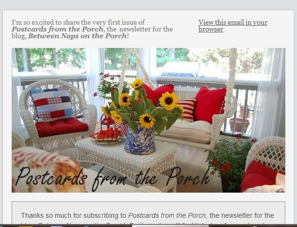Postcards from the Porch Newsletter
