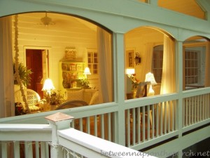 Screened In Porch at night