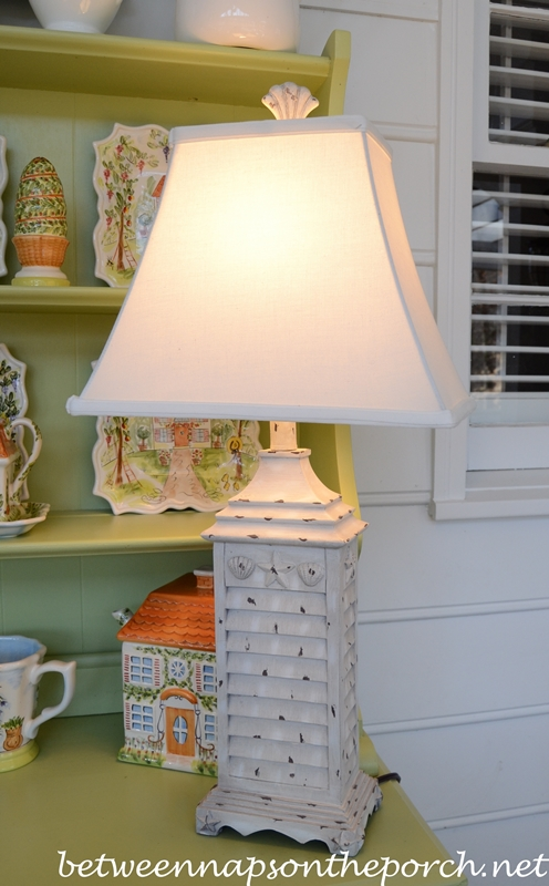 Shell Lamp Cottage Style