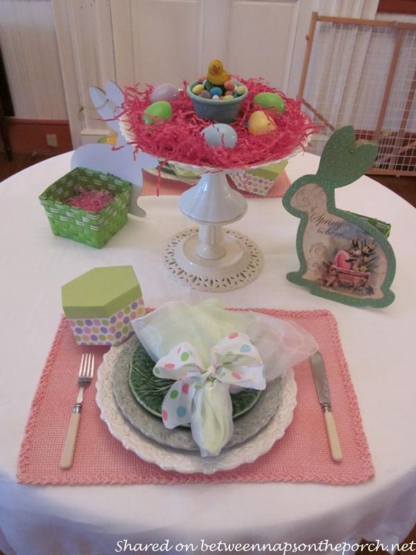 Spring Easter Tablescape