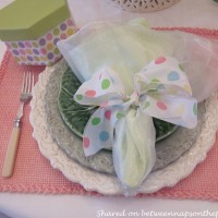 Spring Table Setting for Two