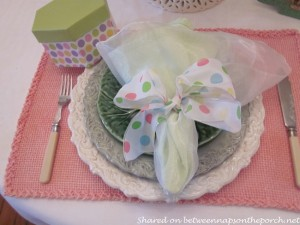 Spring Easter Table Setting for Two