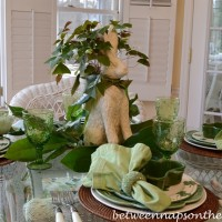 A St. Patrick's Day Table Setting with Help from the Easter Bunny