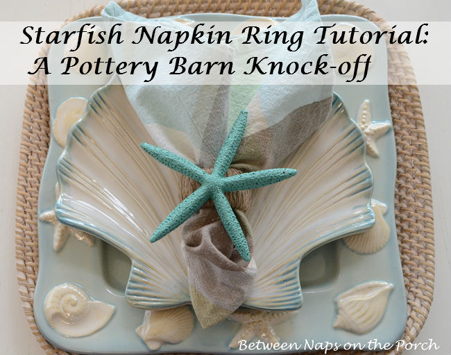 Starfish Napkin Ring Pottery Barn Knock-off