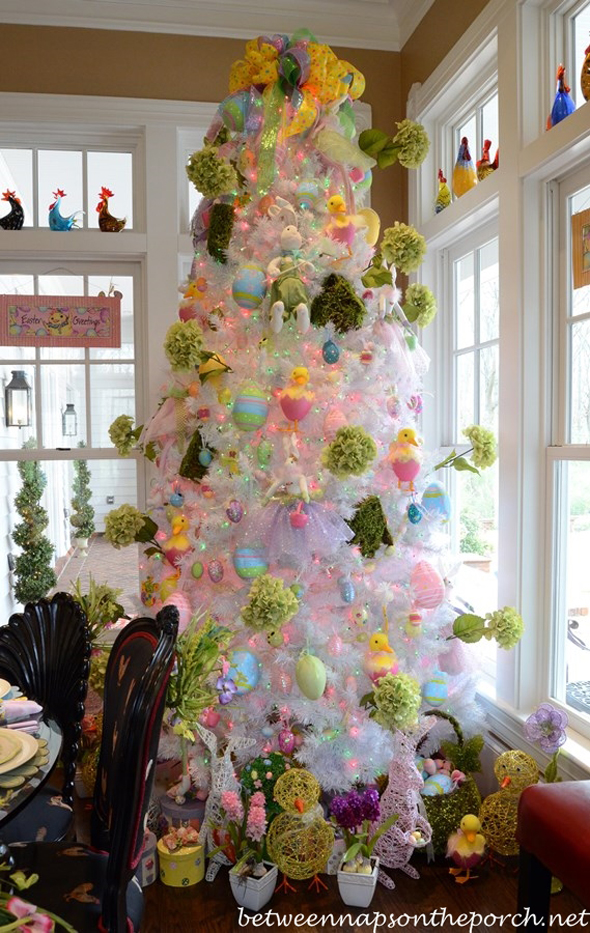 Tree Decorated for Easter