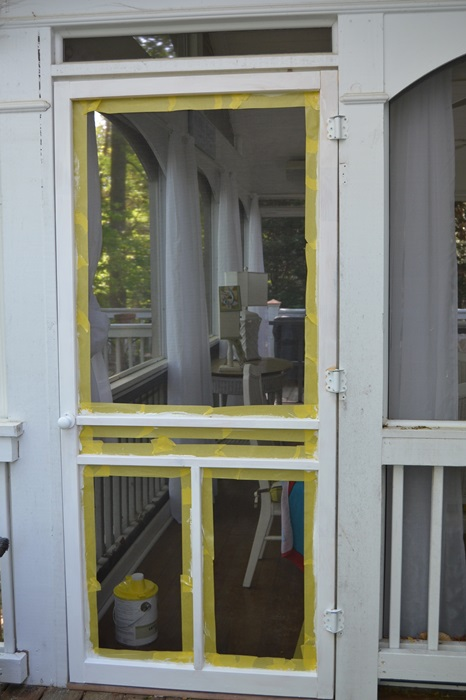 Priming a Screened Door
