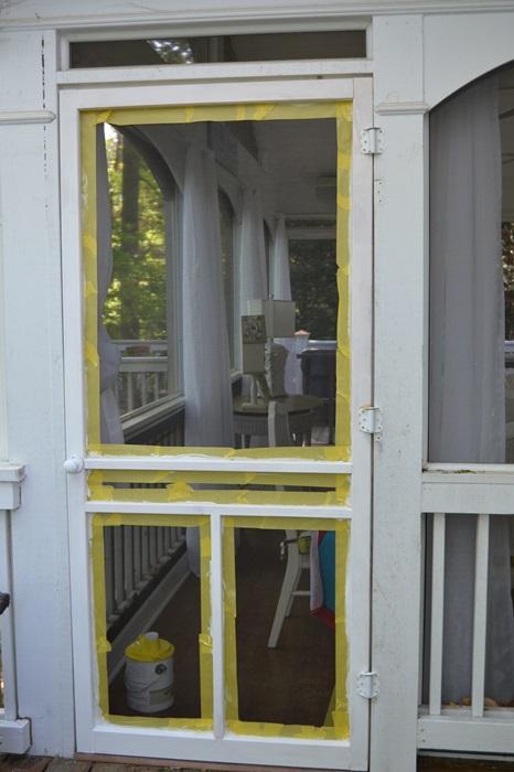 Priming a Screened Door