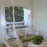Cover Metal Swing Chains for a Softer Look on the Porch