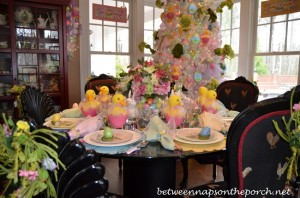 Easter Tablescape Table Setting