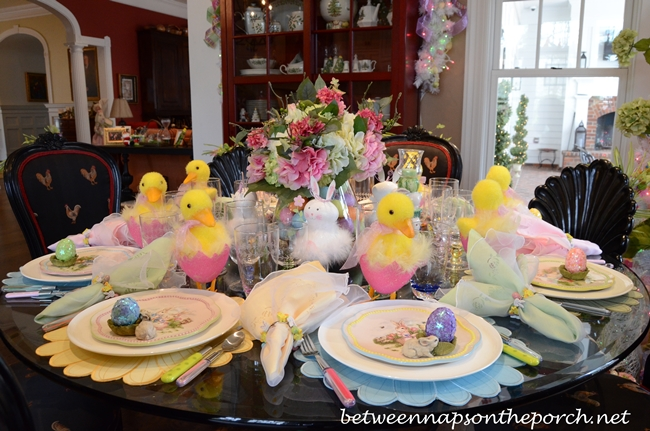 Easter table settings tablescapes for Easter decorating ideas table setting