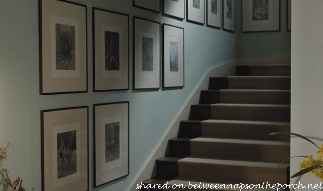 House in movie, Death at a Funeral, Staircase