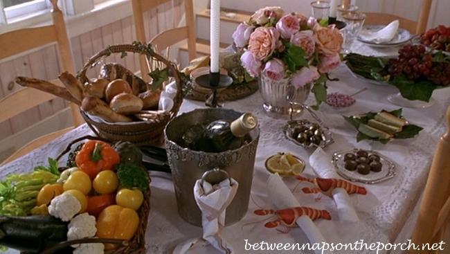 Martha's Vineyard Cottage Feast in Movie Sabrina
