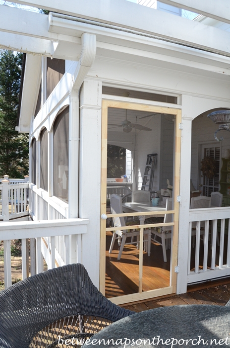 New screened door for the screened porch for Cheap front and back doors